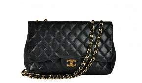 CHANEL 'Jumbo Classic' Black Shoulder Bag