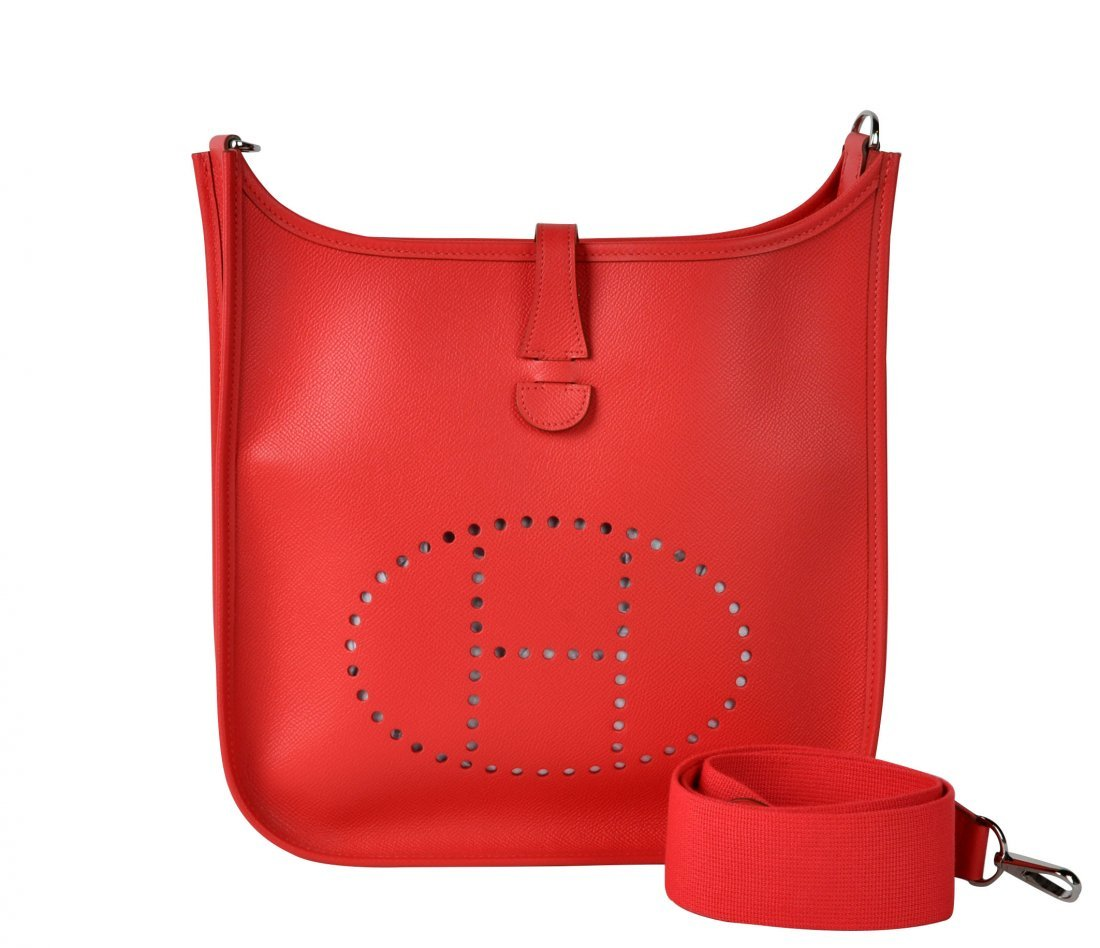 Hermes 'Evelyne PM' Rose Jaipur Leather 2014