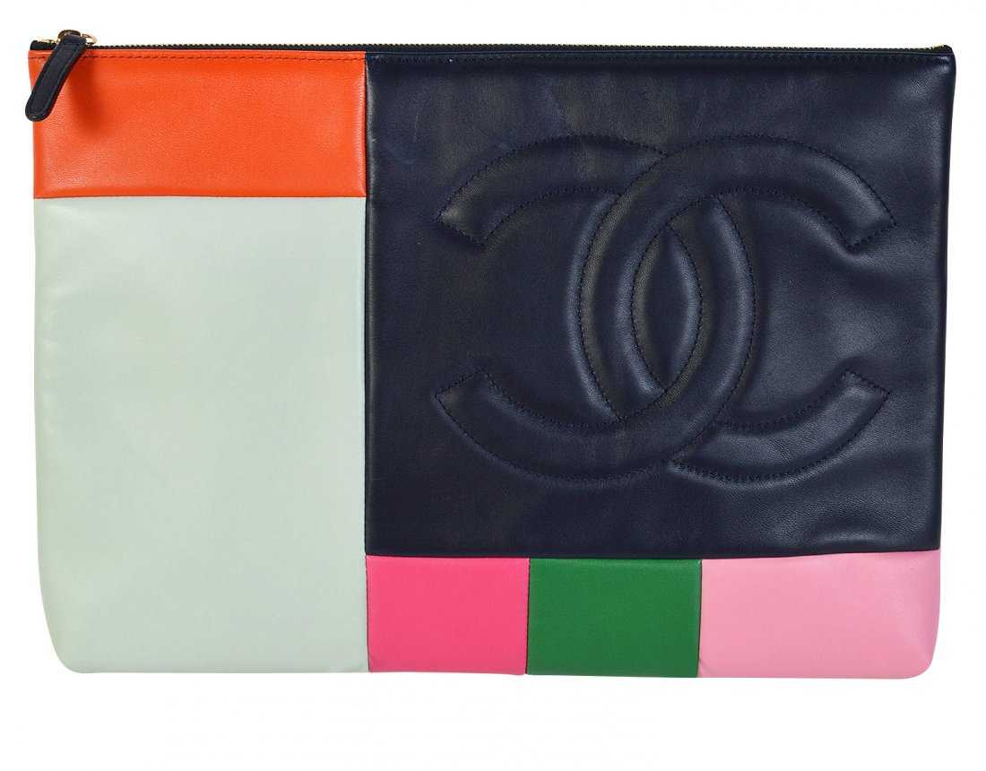 26c88123e5eac4 Unusual Colorful CHANEL Technology Bag / Clutch