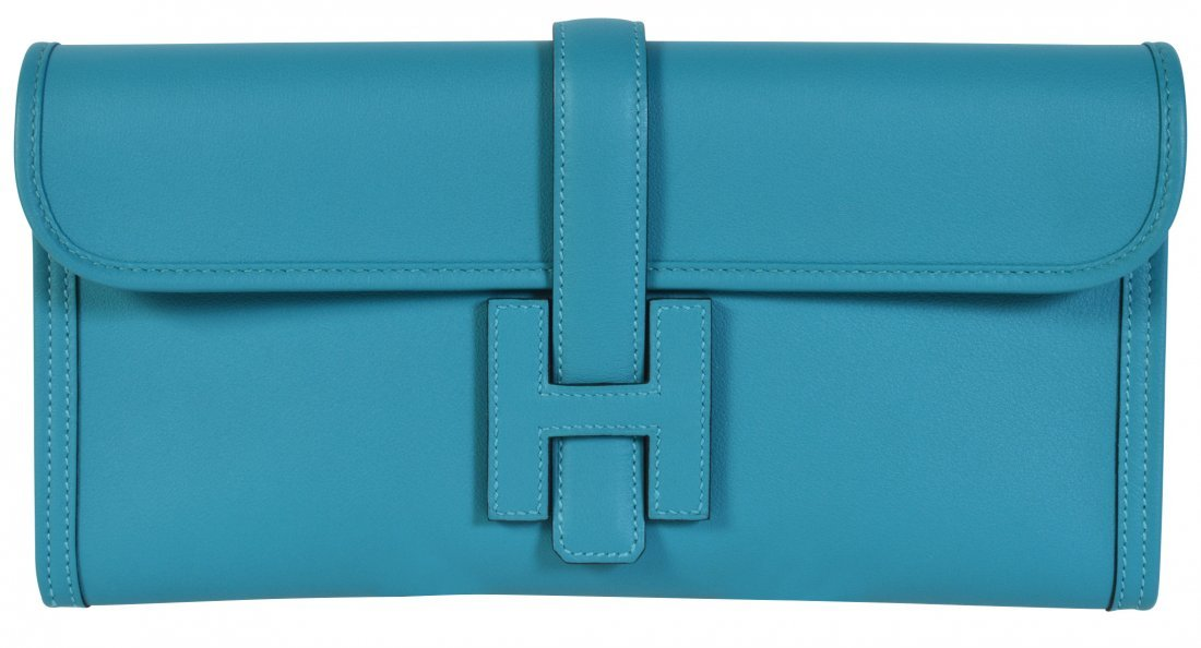 Hermes Jige Elan Swift Leather Clutch Bag