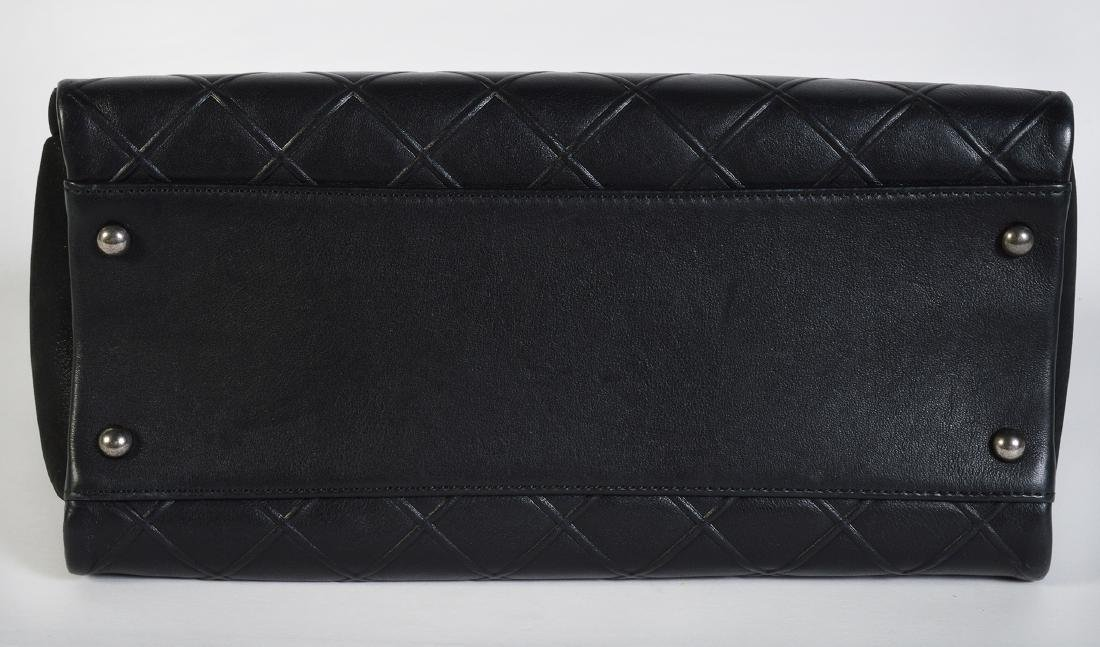 CHANEL Black Quilted Calfskin Leather Tote Bag - 2