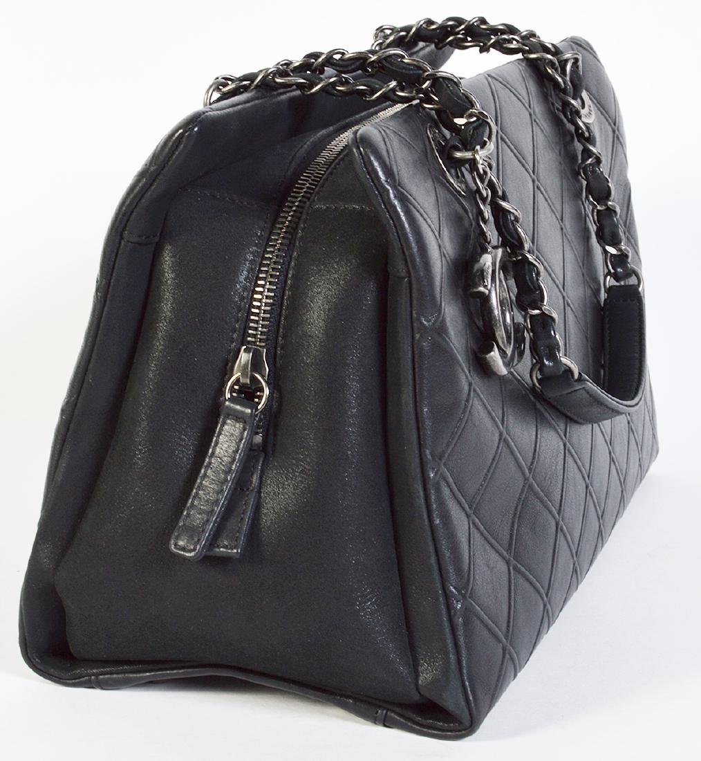 CHANEL Black Quilted Calfskin Leather Tote Bag - 8