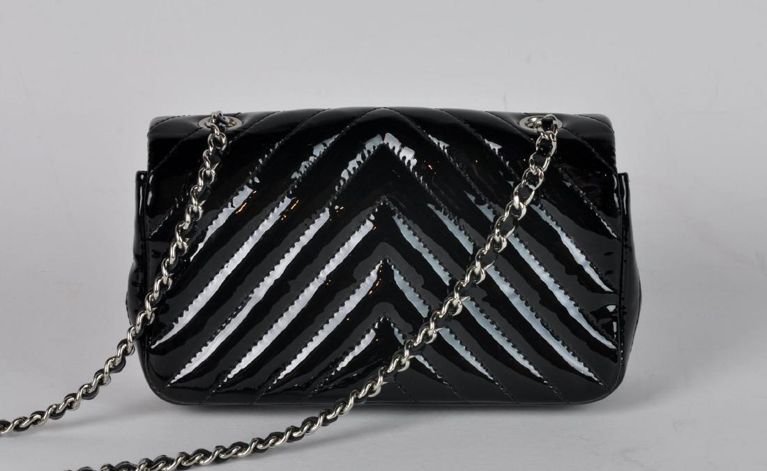 Mini Black Patent Leather CHANEL Bag - 2