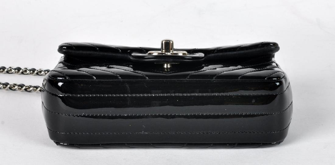 Mini Black Patent Leather CHANEL Bag - 3