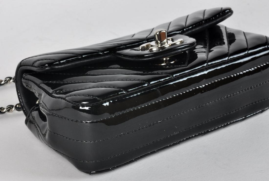 Mini Black Patent Leather CHANEL Bag - 5