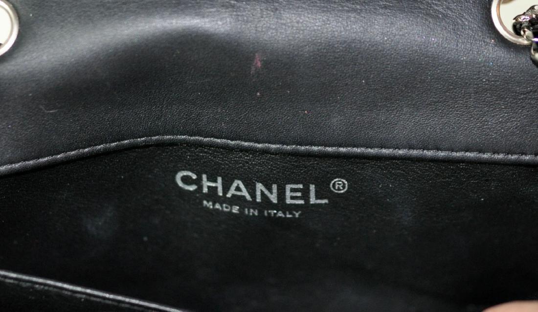 Mini Black Patent Leather CHANEL Bag - 8