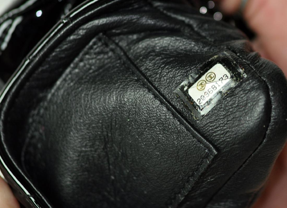 Mini Black Patent Leather CHANEL Bag - 9