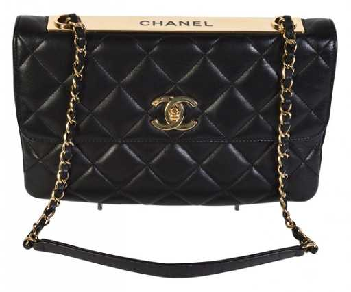 bc91550f27a9b6 Black Leather CHANEL 'Trendy' CC Bag