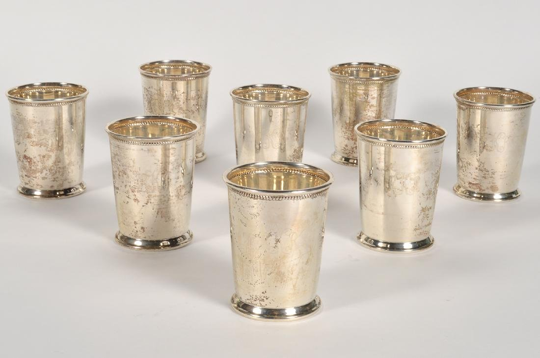 Eight (8) Empire Sterling Silver Mint Julep Cups