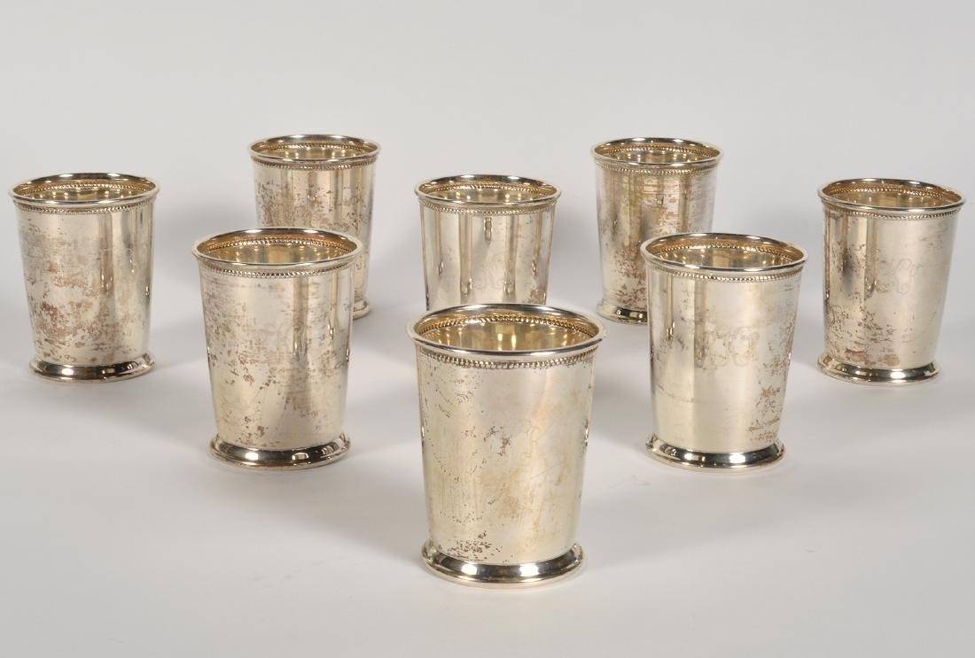 Eight (8) Empire Sterling Silver Mint Julep Cups - 2