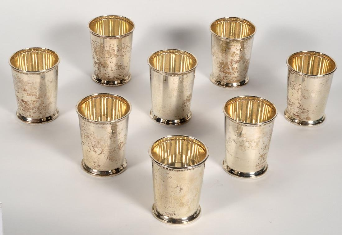 Eight (8) Empire Sterling Silver Mint Julep Cups - 5