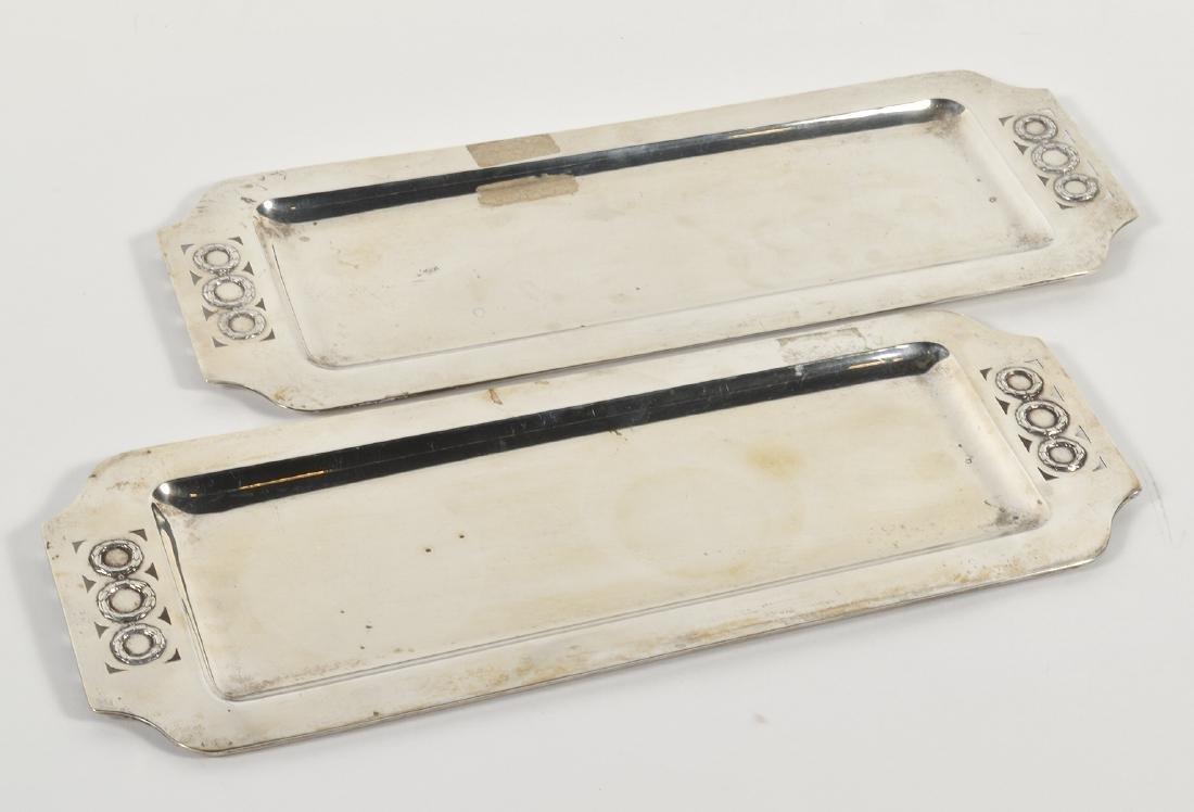 Pr. Austrian Silver Art Deco Cocktail Trays