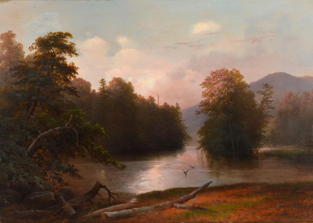 Attributed to James McDougal Hart Oil Painting