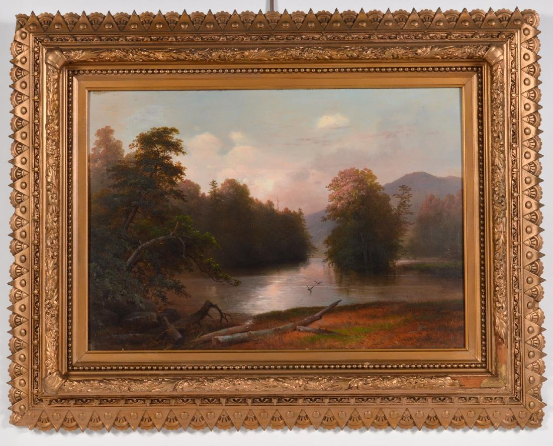 Attributed to James McDougal Hart Oil Painting - 2