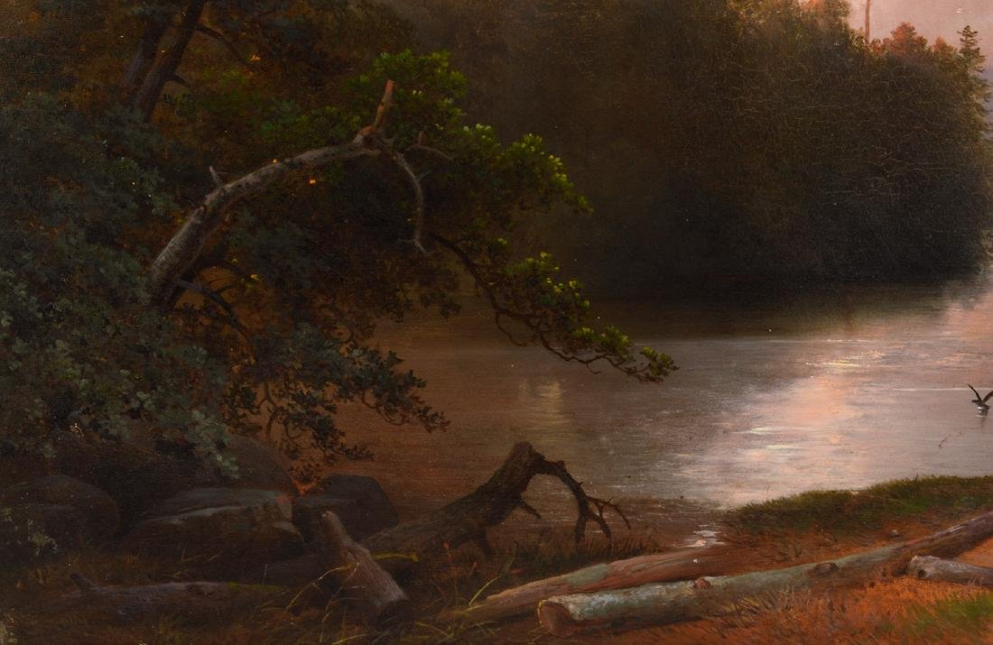Attributed to James McDougal Hart Oil Painting - 3
