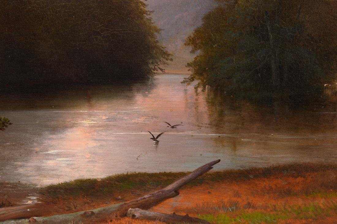 Attributed to James McDougal Hart Oil Painting - 4
