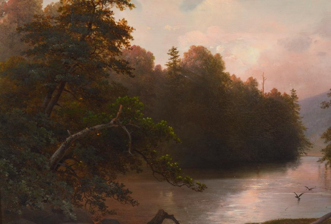 Attributed to James McDougal Hart Oil Painting - 6