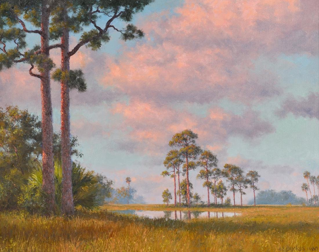 Beanie Backus 'Pink Clouds Over the Everglades'