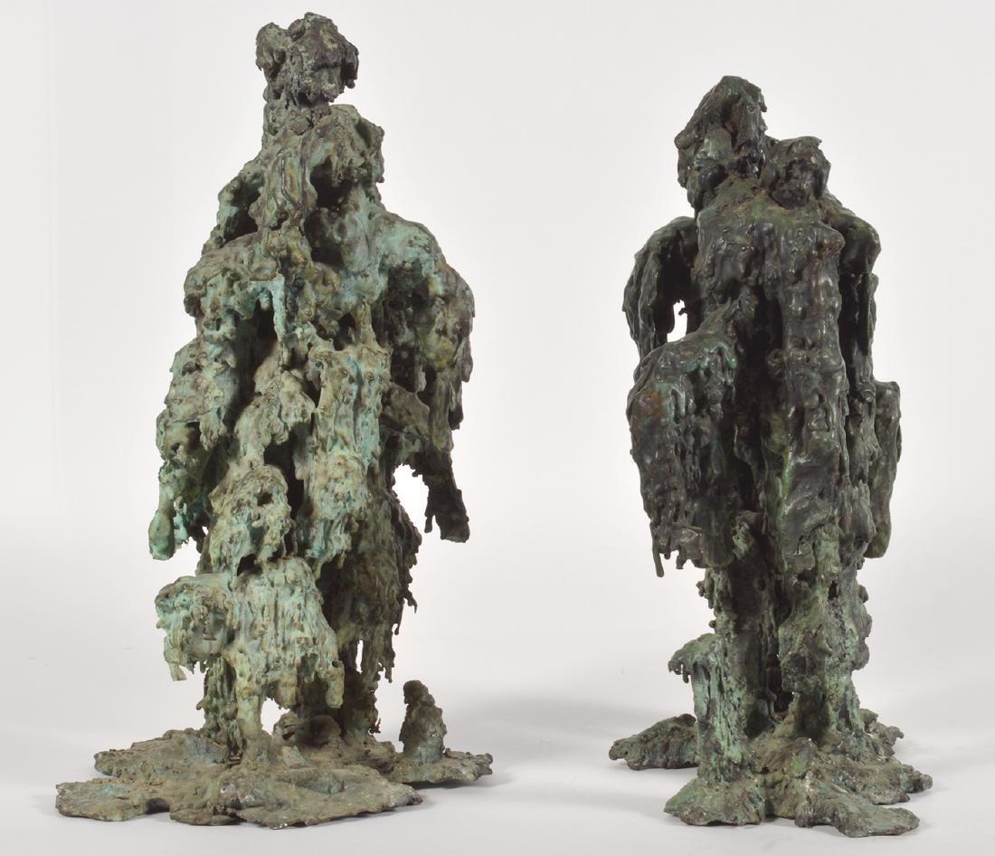 Two Robert Bery Drip Bronze Sculptures - 3