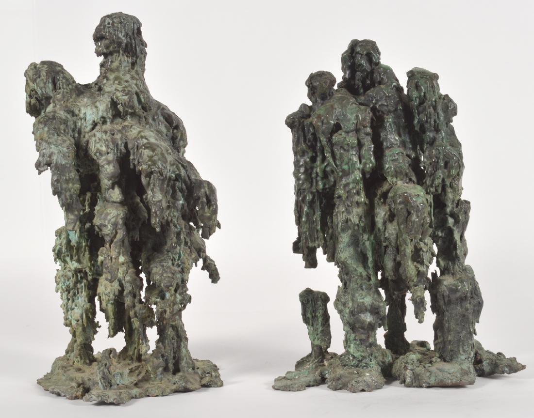 Two Robert Bery Drip Bronze Sculptures - 4