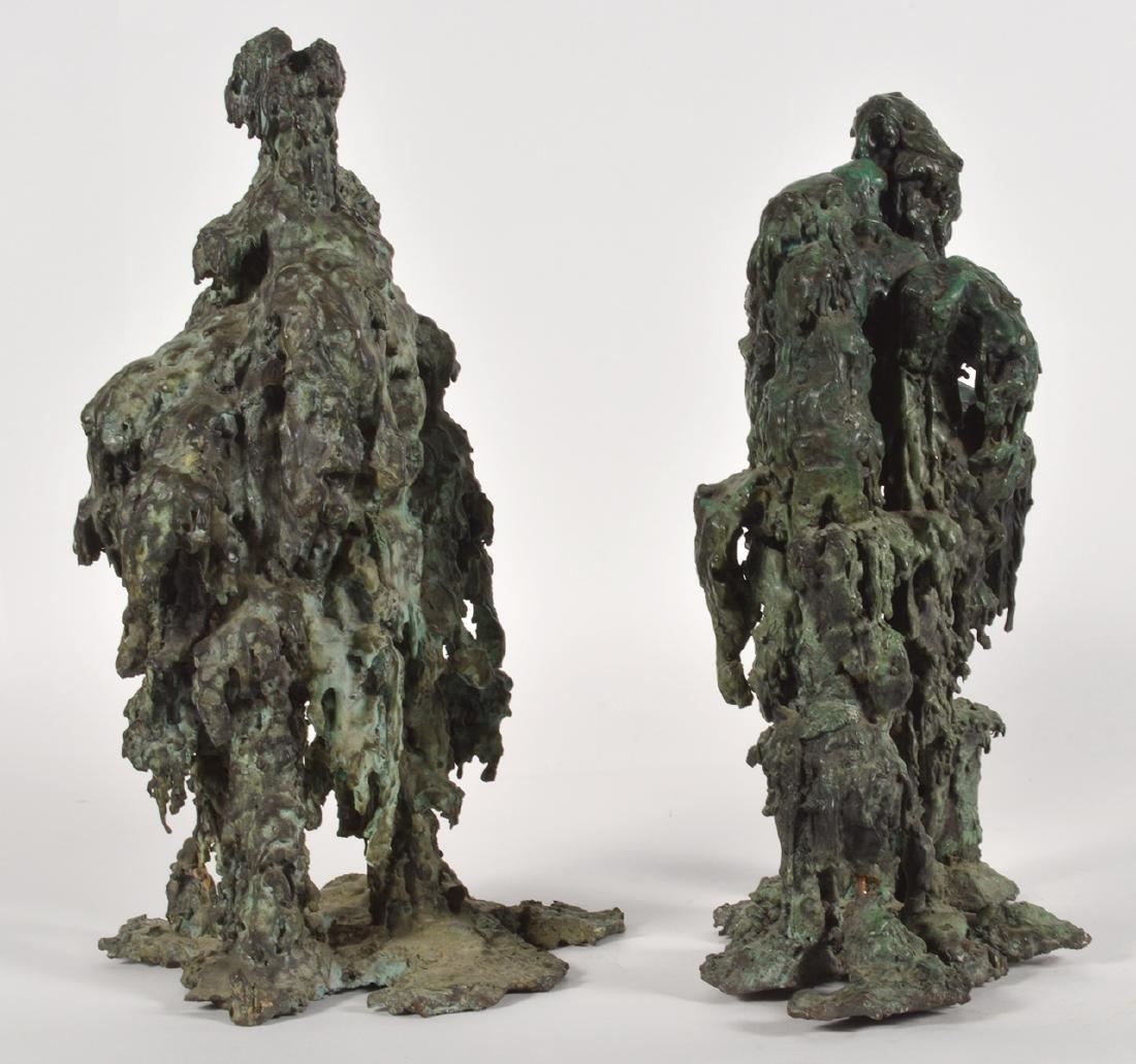 Two Robert Bery Drip Bronze Sculptures - 5