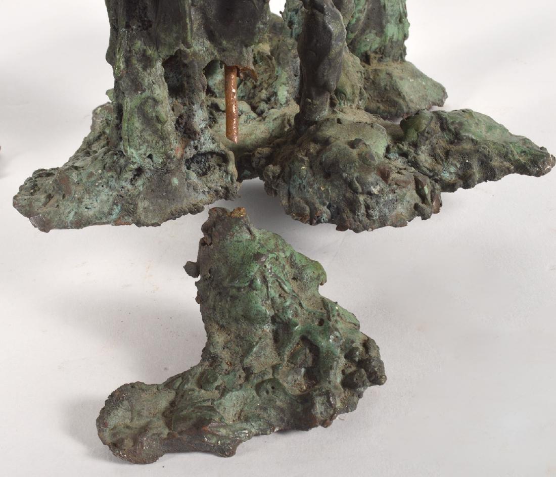 Two Robert Bery Drip Bronze Sculptures - 6