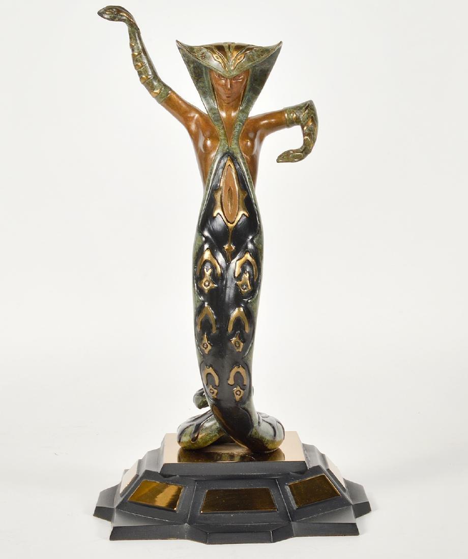 Erte Bronze 'La Jalousie' Sculpture
