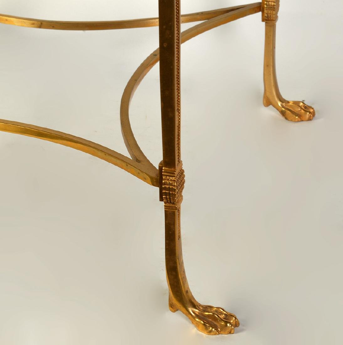 Bronze Square Side Table with Mirrored Top - 2