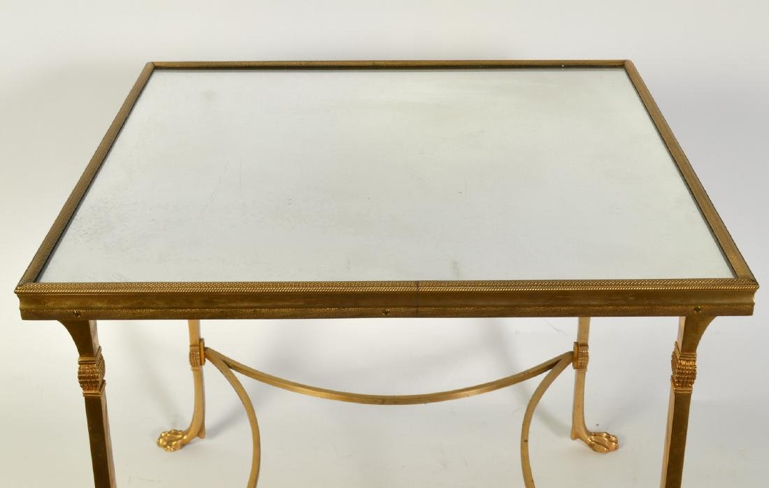 Bronze Square Side Table with Mirrored Top - 4
