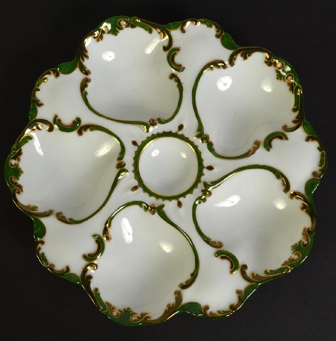 Set of Six Limoges Oyster Plates - 2