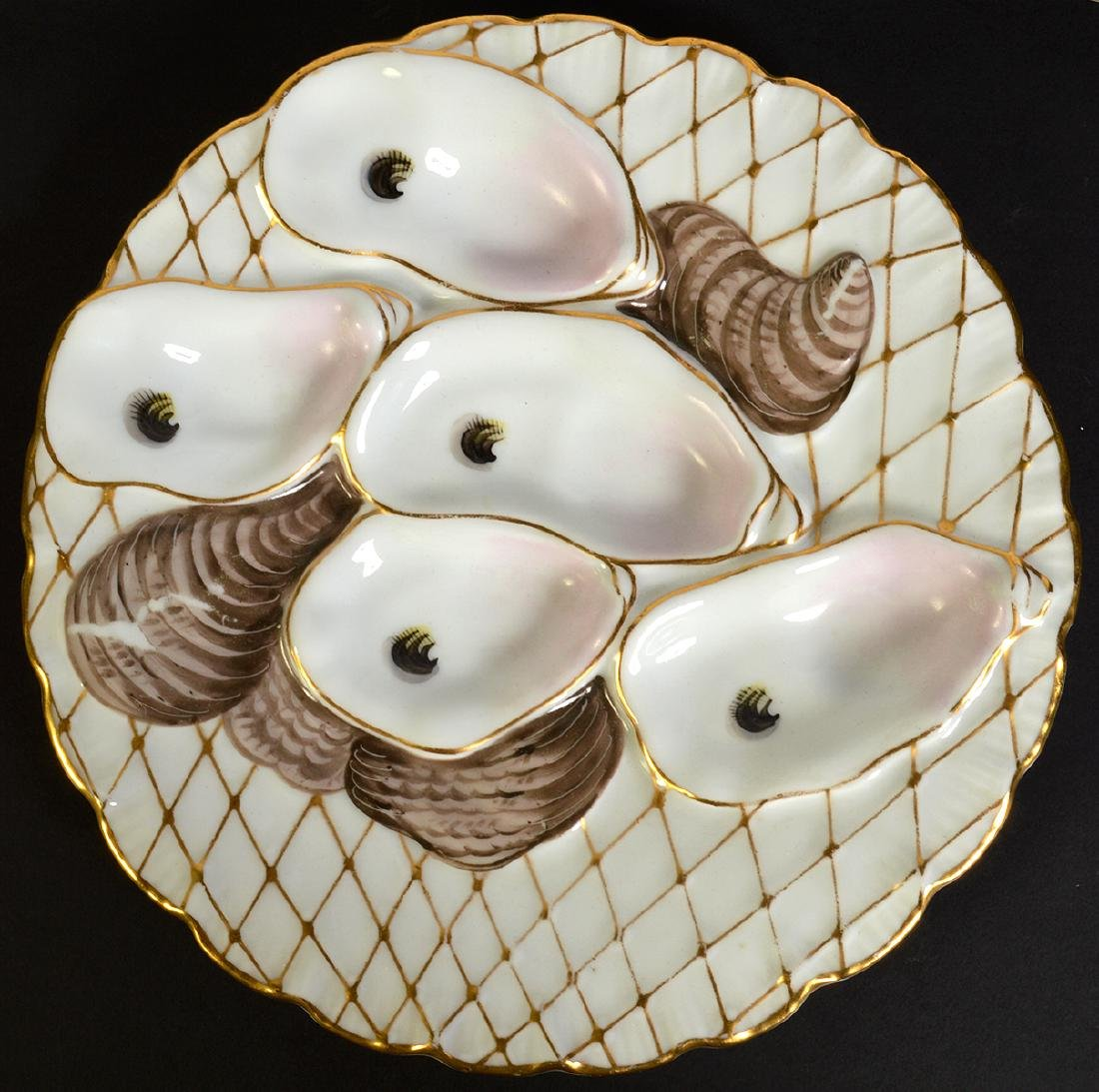 Set of 8 Oyster Plates by Davis & Collamore Co. - 2