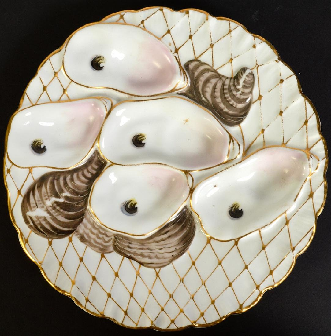 Set of 8 Oyster Plates by Davis & Collamore Co. - 3