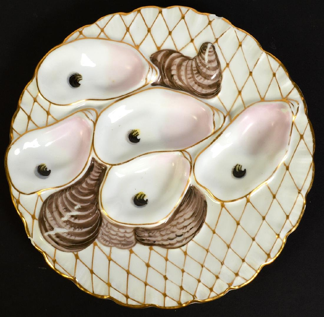 Set of 8 Oyster Plates by Davis & Collamore Co. - 7
