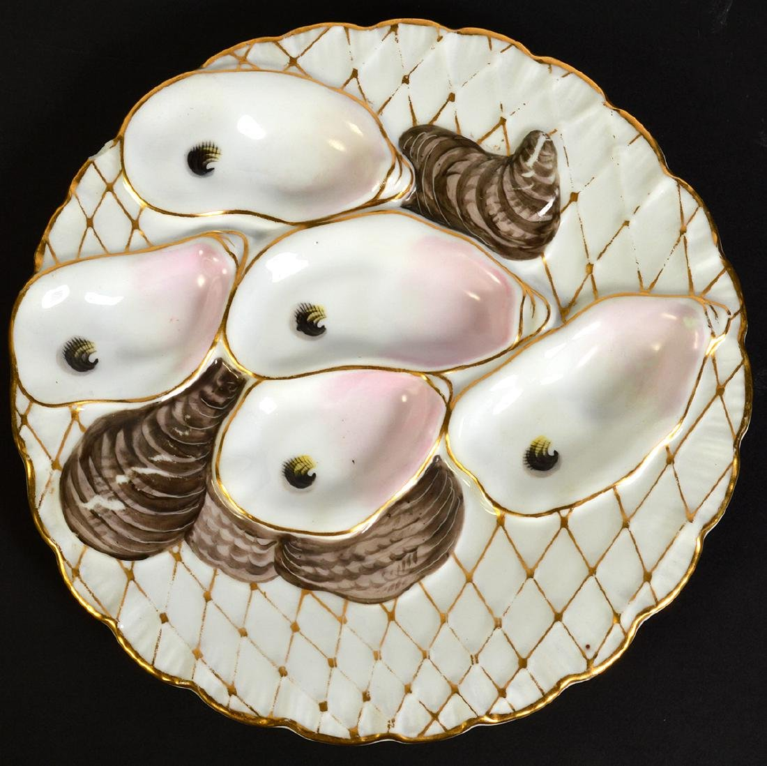 Set of 8 Oyster Plates by Davis & Collamore Co. - 9
