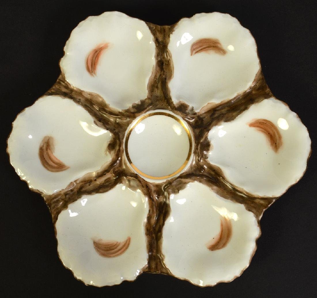 8 Haviland H&C Limoges Oyster Plates - 10