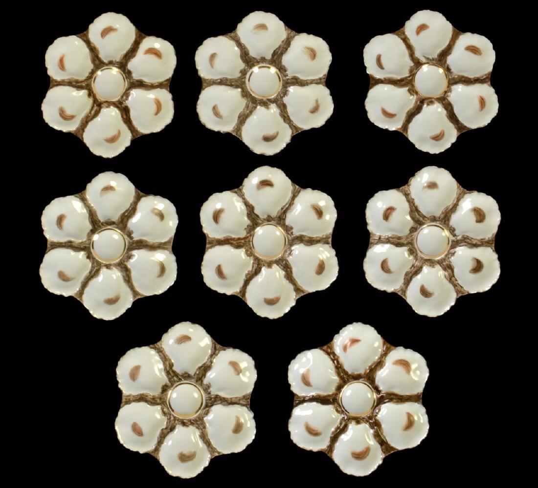 8 Haviland H&C Limoges Oyster Plates