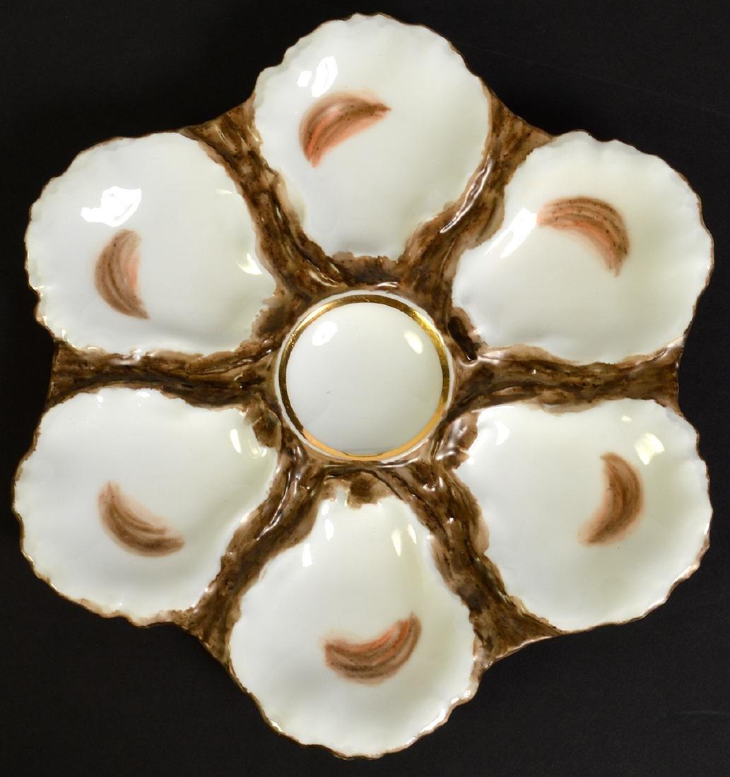 8 Haviland H&C Limoges Oyster Plates - 3