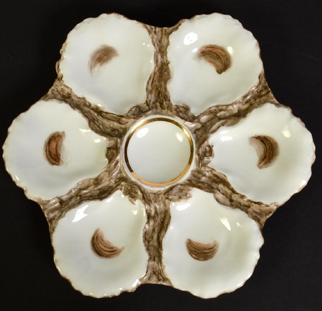 8 Haviland H&C Limoges Oyster Plates - 4