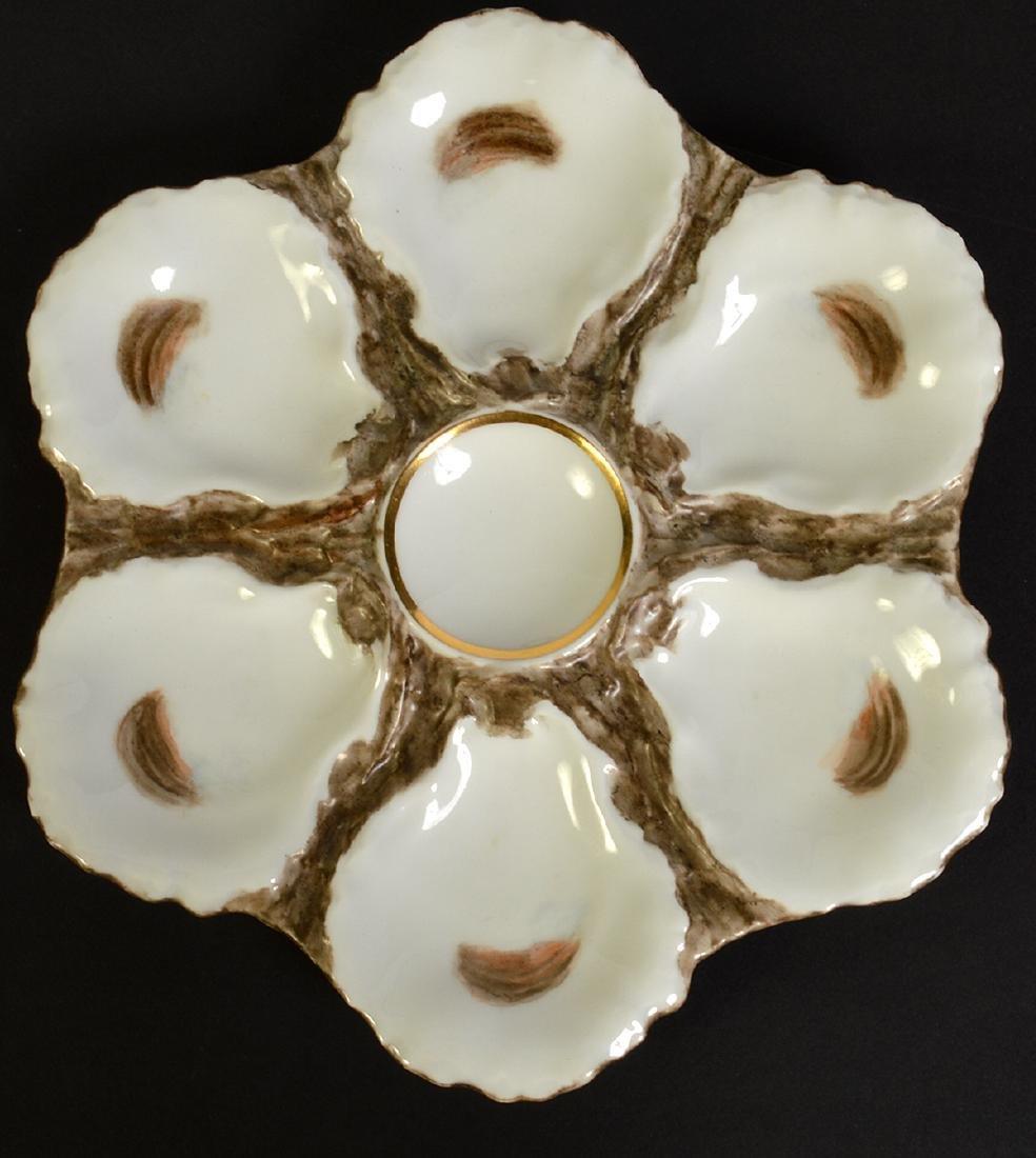 8 Haviland H&C Limoges Oyster Plates - 5
