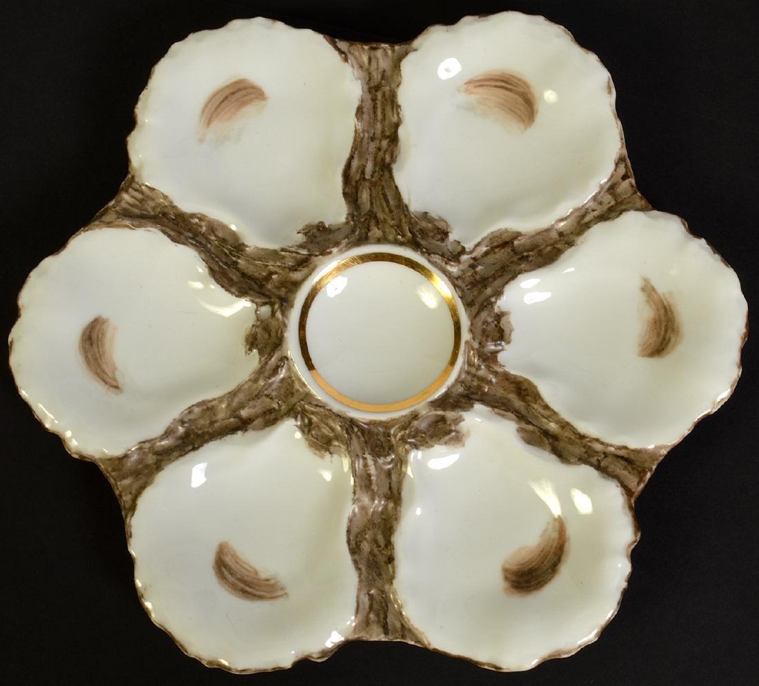 8 Haviland H&C Limoges Oyster Plates - 9