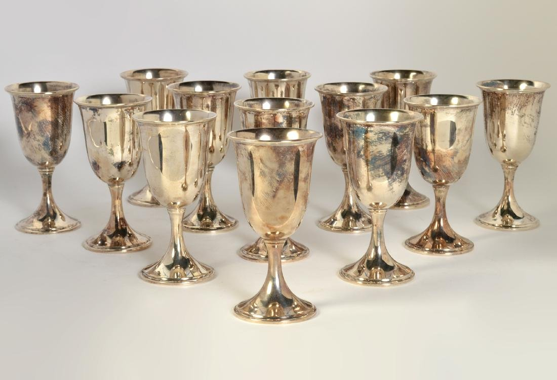 14 S. Kirk & Sons Sterling Water Goblets