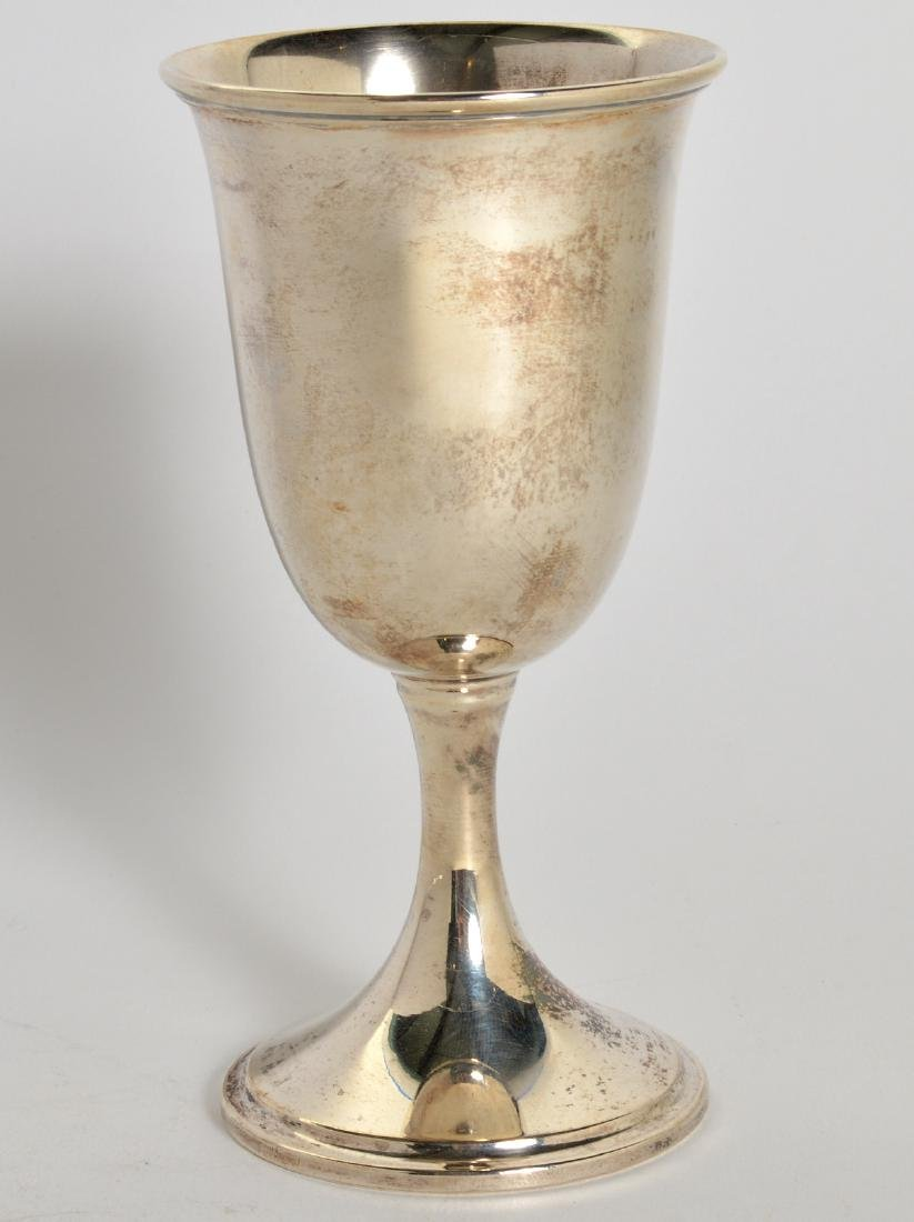 14 S. Kirk & Sons Sterling Water Goblets - 2