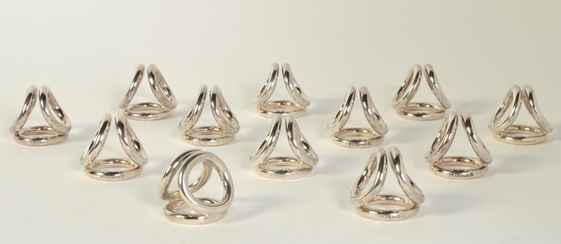 12 Christofle Silverplate 'Vertigo' Menu Holders - 4