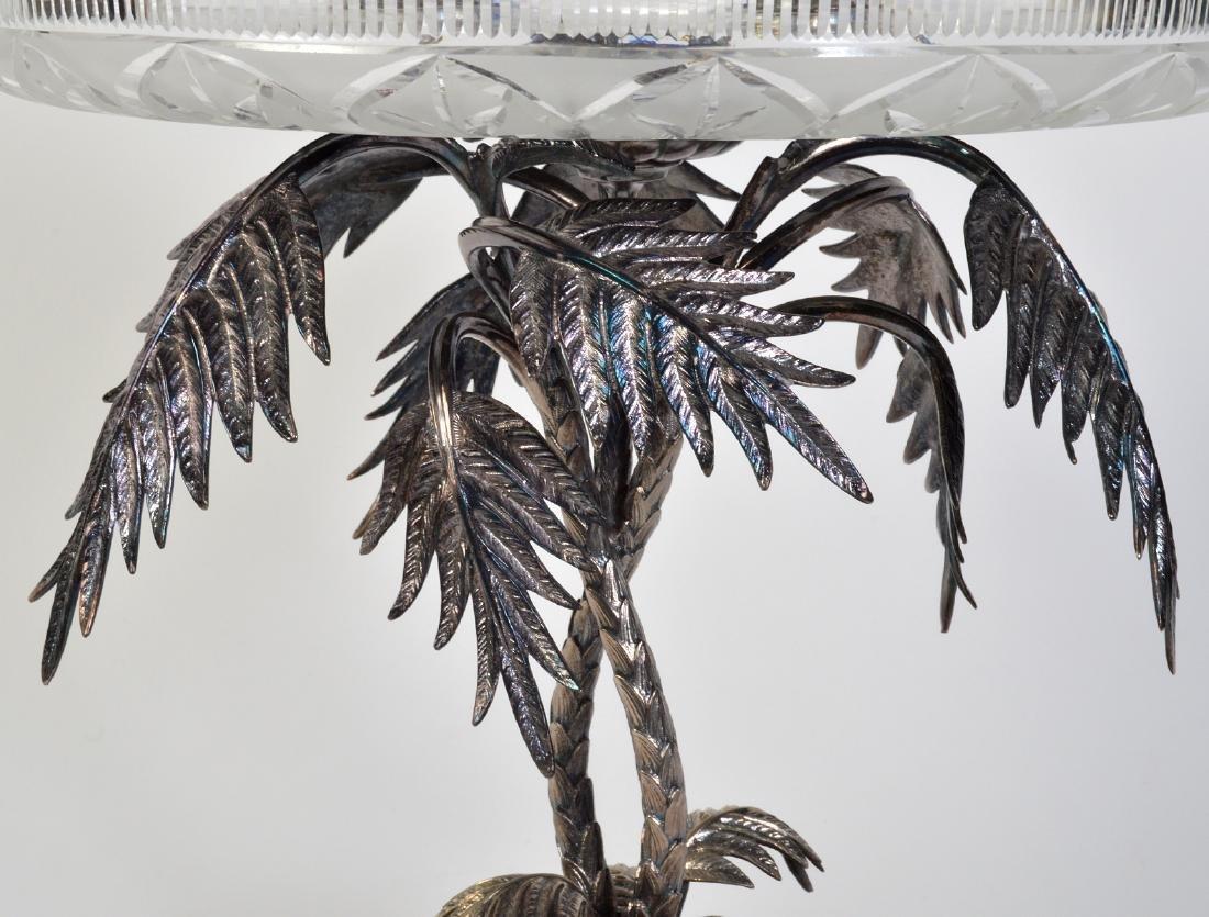 Palm Tree Silverplate Centerpiece Vase - 10