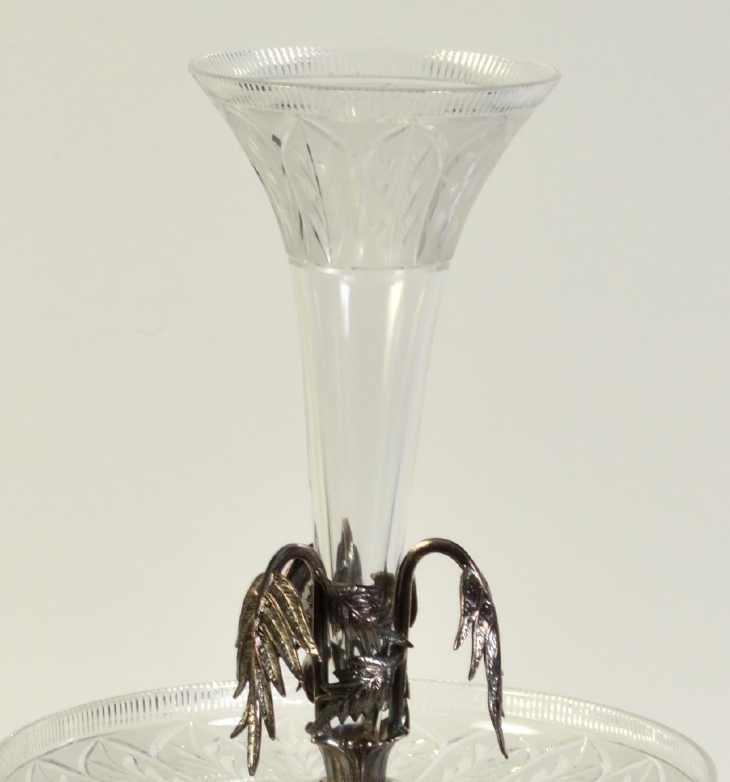 Palm Tree Silverplate Centerpiece Vase - 2