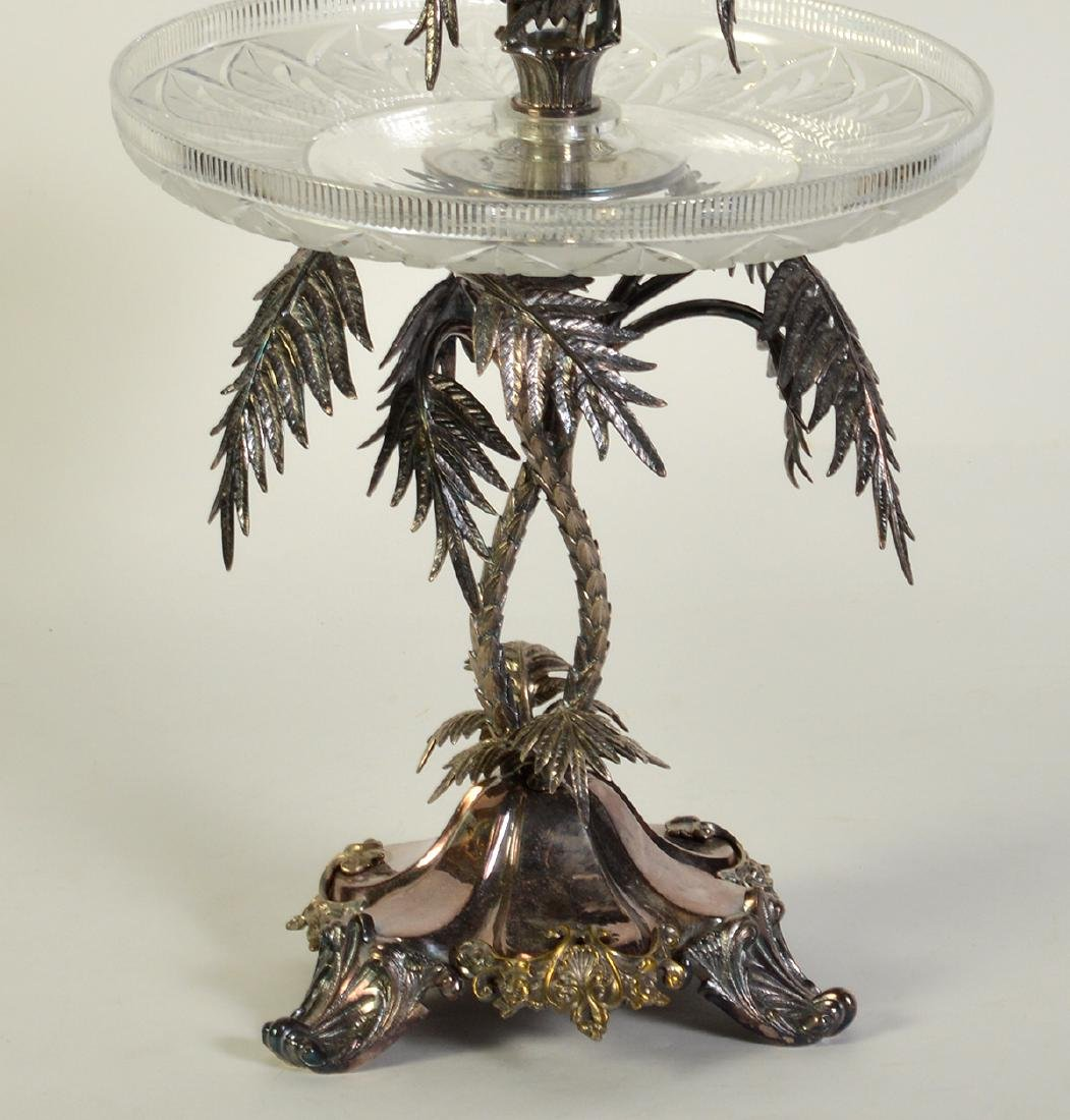 Palm Tree Silverplate Centerpiece Vase - 3