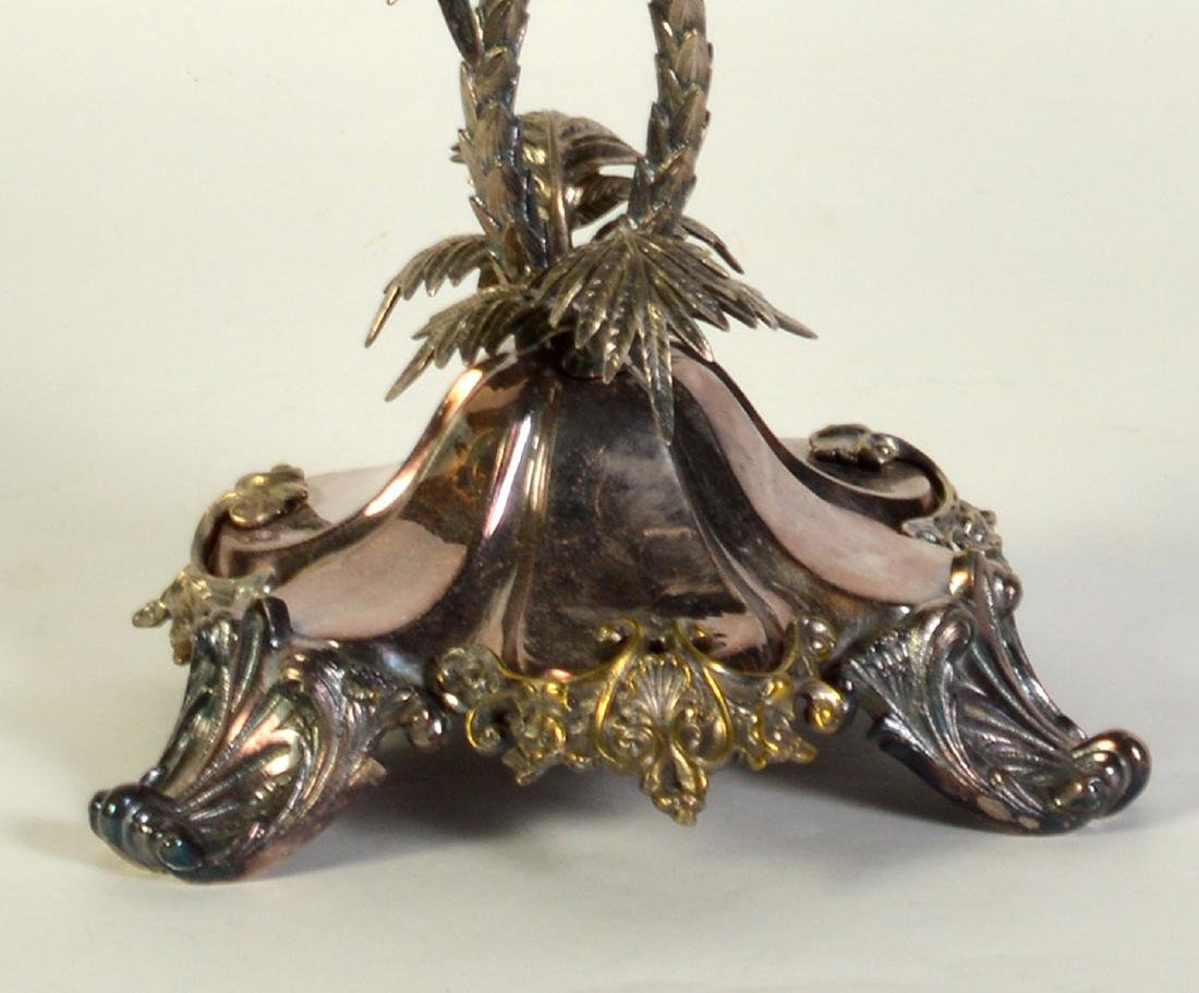 Palm Tree Silverplate Centerpiece Vase - 4