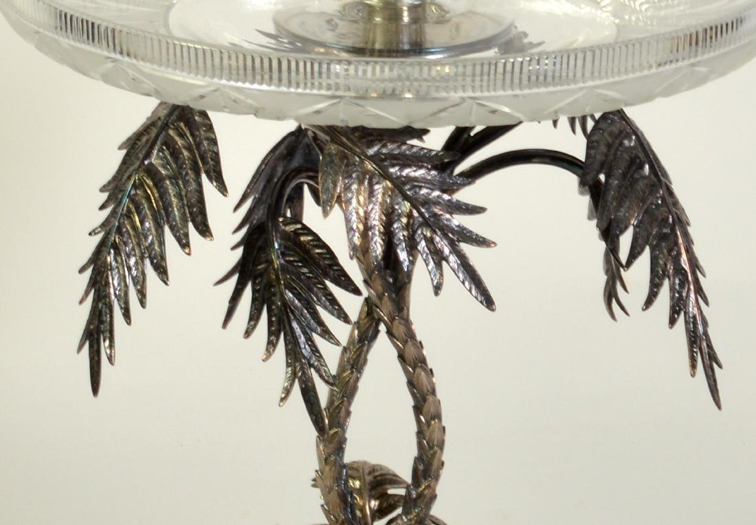 Palm Tree Silverplate Centerpiece Vase - 5