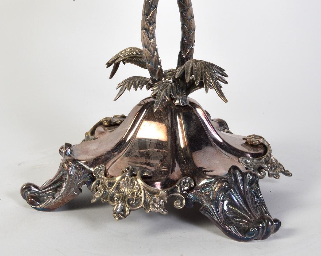 Palm Tree Silverplate Centerpiece Vase - 8