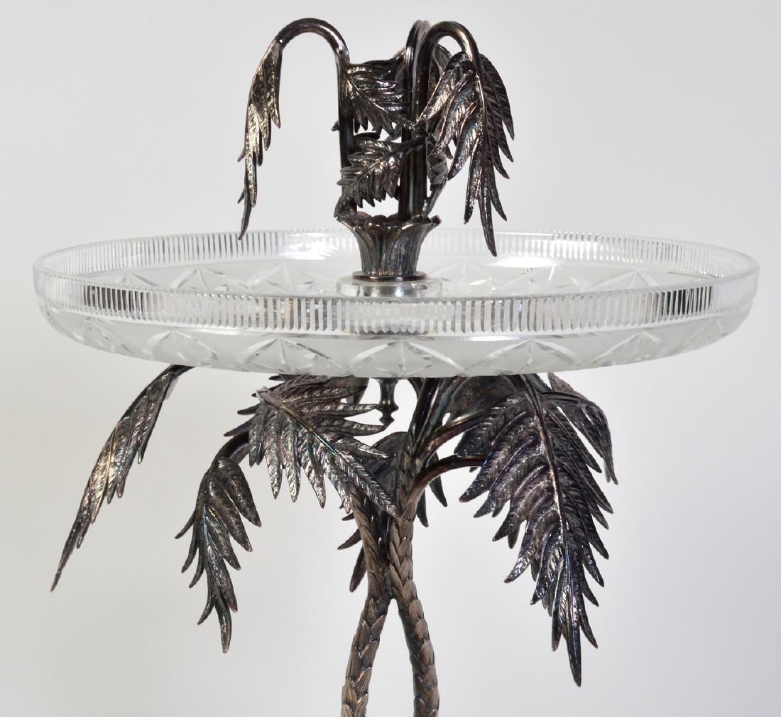 Palm Tree Silverplate Centerpiece Vase - 9